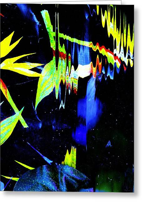 Triumphant Mixed Media Greeting Cards - Delusional Lights in the Dark Greeting Card by Anne-Elizabeth Whiteway