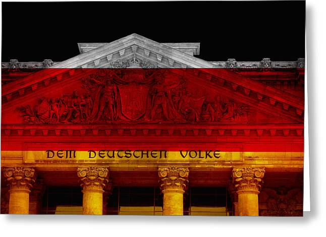 Berlin Mixed Media Greeting Cards - Dem Deutschen Volke Greeting Card by Daniel Hagerman