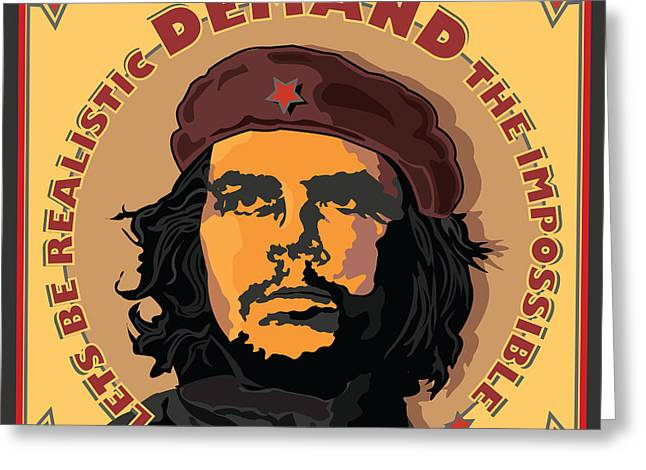 Marxists Greeting Cards - Demand The Impossible Greeting Card by Larry Butterworth