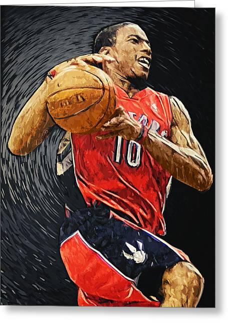 American Basketball Player Greeting Cards - DeMar DeRozan Greeting Card by Taylan Soyturk