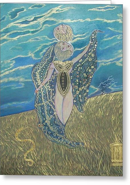 John Lyes Greeting Cards - Demeter Goddess of the Harvest Greeting Card by John Lyes