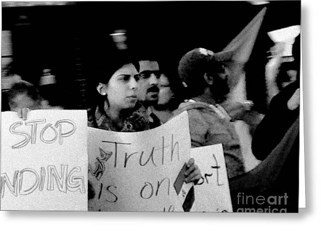 Free Speech Photographs Greeting Cards - Democracy In Action Greeting Card by Lin Haring