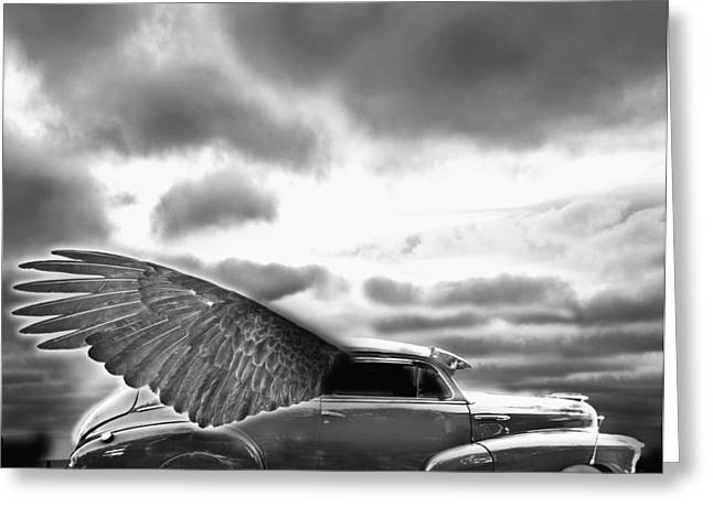 Horror Car Greeting Cards - Demon Chevrolet Greeting Card by Larry Butterworth