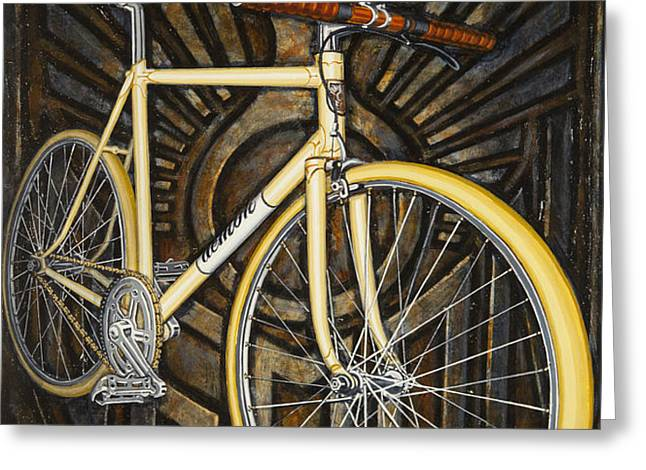 Demon path racer bicycle Greeting Card by Mark Howard Jones