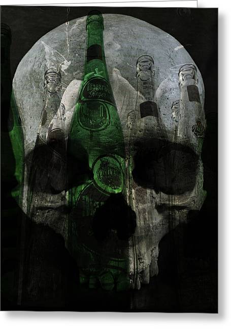 Mix Medium Photographs Greeting Cards - Demons In Bottles  Greeting Card by Jerry Cordeiro