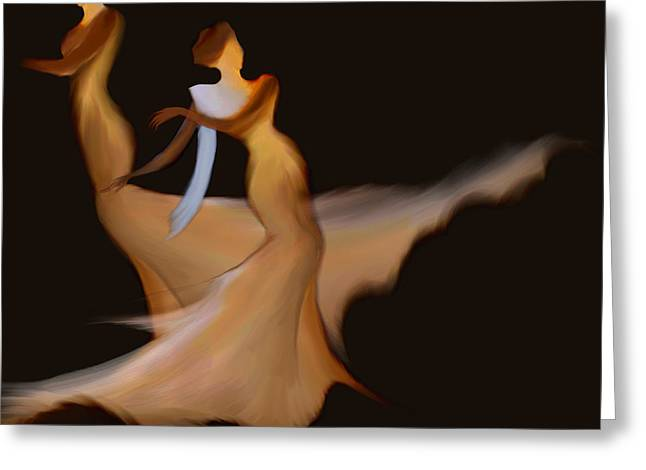 Musical Film Mixed Media Greeting Cards - Demure Greeting Card by Len YewHeng