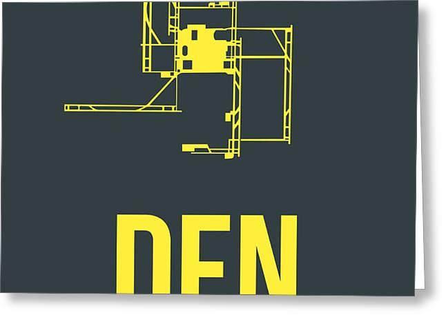 DEN Denver Airport Poster 1 Greeting Card by Naxart Studio