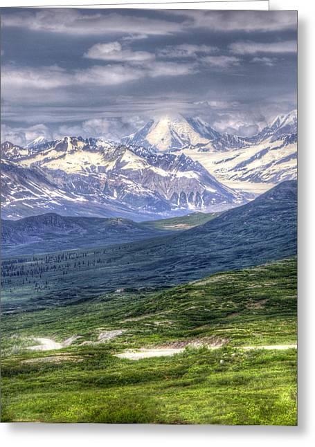 Denali Highway In Alaska Greeting Card by Vicki Jauron