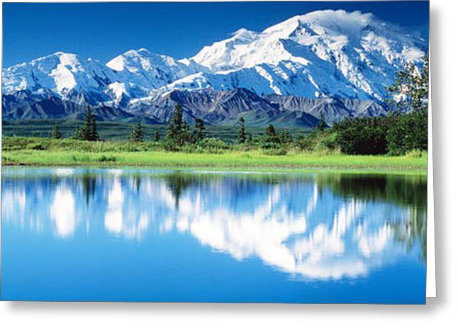Snow-covered Landscape Photographs Greeting Cards - Denali National Park Ak Usa Greeting Card by Panoramic Images