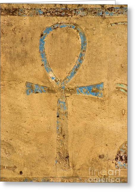 Hathor Greeting Cards - Dendera Ankh Greeting Card by Brian Raggatt