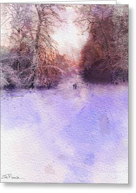 Paysage D Greeting Cards - Denmark Winter Walk Greeting Card by Eva Macie