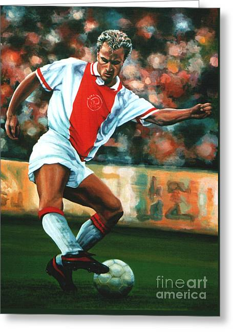 Uefa Champions League Greeting Cards - Dennis Bergkamp 2 Greeting Card by Paul  Meijering