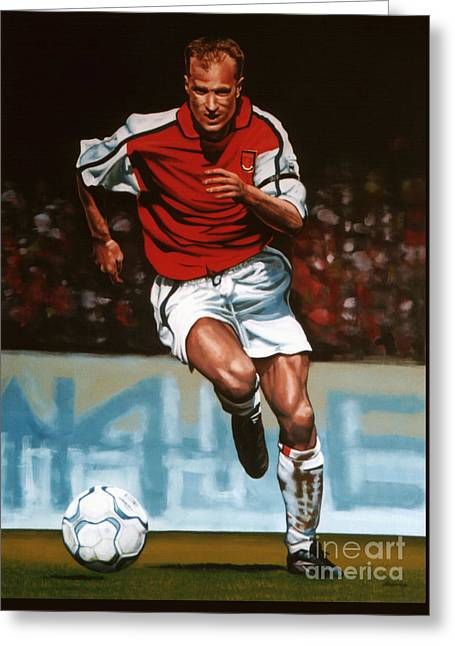 Uefa Champions League Greeting Cards - Dennis Bergkamp Greeting Card by Paul Meijering