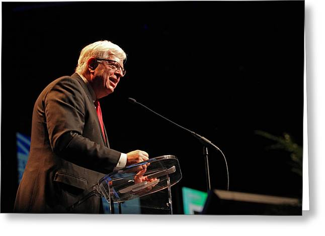 Conservative Greeting Cards - Dennis Prager 2 Greeting Card by Mike Flynn