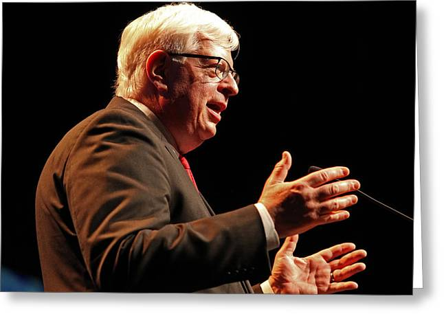 Conservative Greeting Cards - Dennis Prager Greeting Card by Mike Flynn