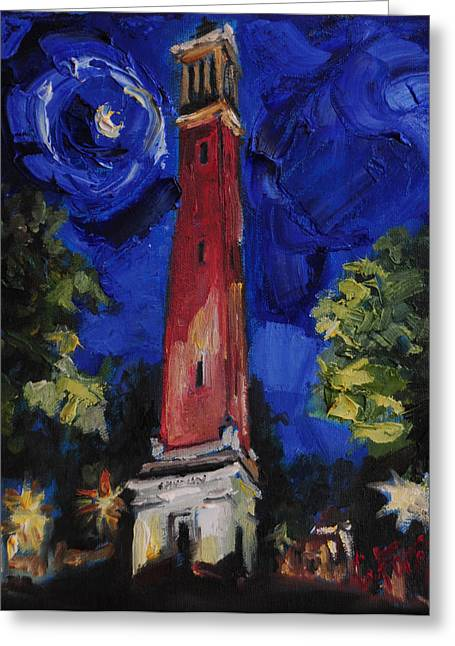 University Of Alabama Greeting Cards - Denny Chimes Greeting Card by Carole Foret