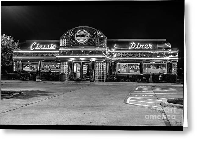 Dennys Greeting Cards - Dennys Classic Diner Greeting Card by Imagery by Charly