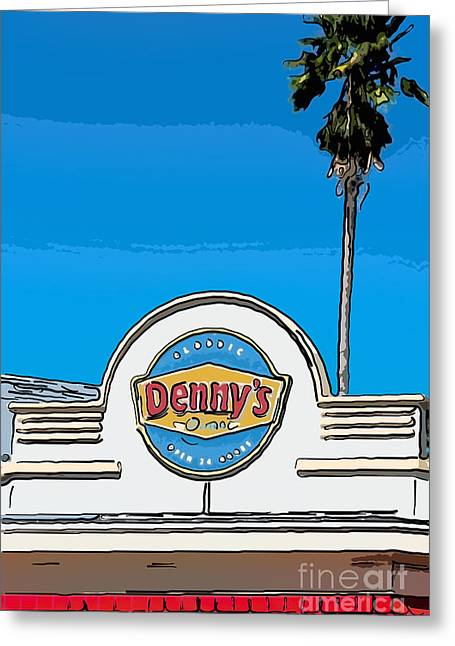 Denny Greeting Cards - Dennys Key West - Digital Greeting Card by Ian Monk
