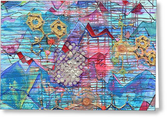 Metallic Reliefs Greeting Cards - Density of States Greeting Card by Regina Valluzzi
