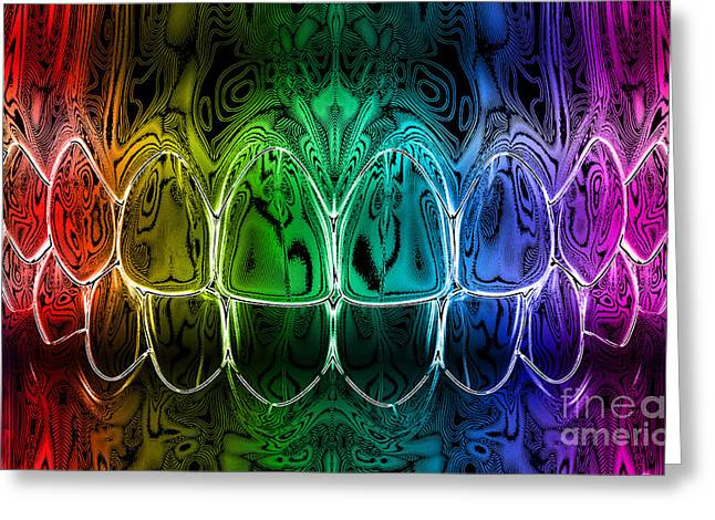 Medical Greeting Cards - Dental Art Greeting Card by Jolanta Prunskaite