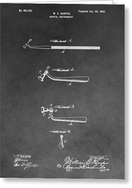 Pull Drawings Greeting Cards - Dental Instrument Patent Greeting Card by Dan Sproul