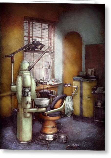 Then Greeting Cards - Dentist - Dental Office circa 1940s Greeting Card by Mike Savad