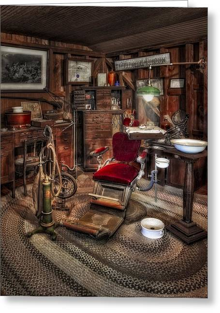 Old Fashioned Greeting Cards - Dentist Office Greeting Card by Susan Candelario