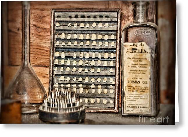 Dds Greeting Cards - Dentist - Teeth on Display Greeting Card by Paul Ward