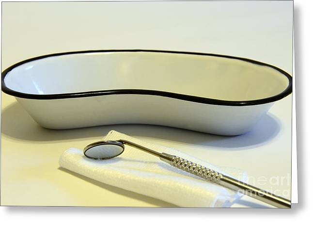 Dds Greeting Cards - Dentist - The Dental Mirror Greeting Card by Paul Ward