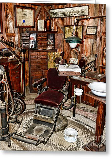 Old-fashioned Greeting Cards - Dentist - The Dentist Chair Greeting Card by Paul Ward