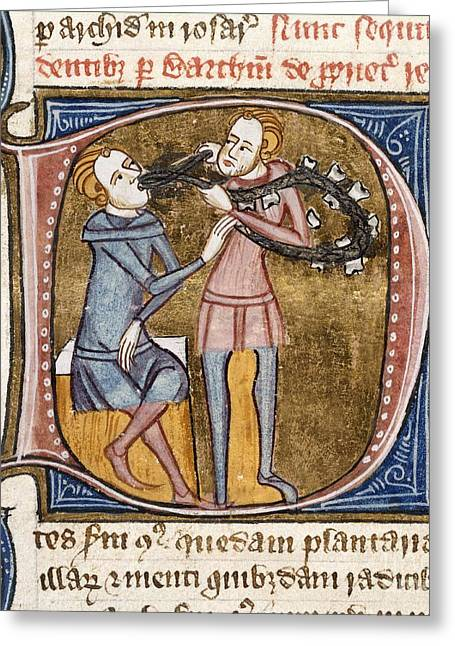 1300s Greeting Cards - Dentistry, 14th-century Manuscript Greeting Card by British Library
