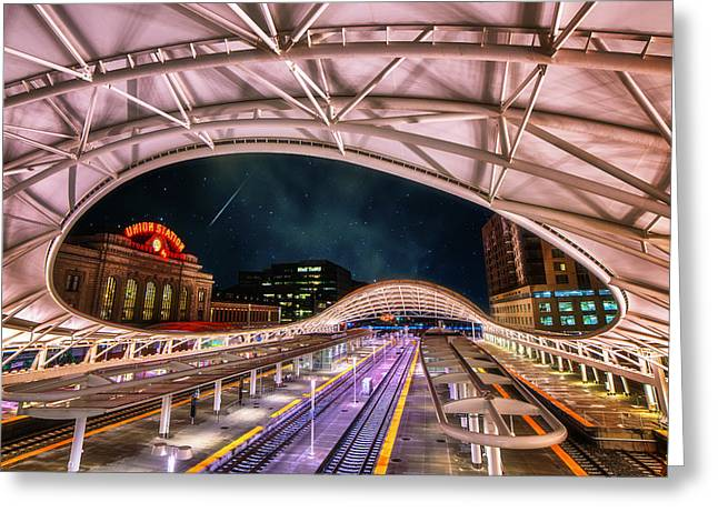 Colorado Greeting Cards Greeting Cards - Denver Air Traveler Greeting Card by Darren  White