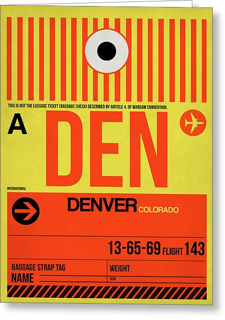 Colorado Greeting Cards - Denver Airport Poster 3 Greeting Card by Naxart Studio