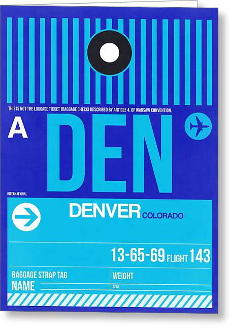 Denver Greeting Cards - Denver Airport Poster 4 Greeting Card by Naxart Studio