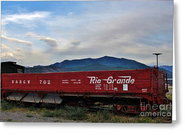 Colorado Railroad Museum Greeting Cards - Denver and Rio Grande Western 702 Ridgeway Colorado Greeting Card by Janice Rae Pariza