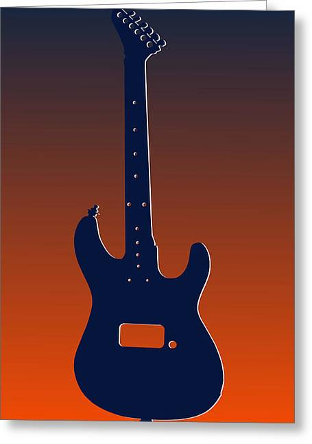 Concert Bands Photographs Greeting Cards - Denver Broncos Guitar Greeting Card by Joe Hamilton
