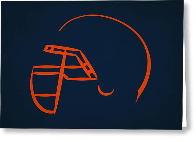 Broncos Greeting Cards - Denver Broncos Helmet Greeting Card by Joe Hamilton