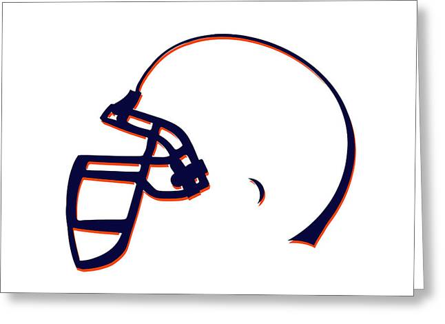 Broncos Greeting Cards - Denver Broncos Helmet3 Greeting Card by Joe Hamilton