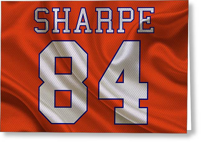 Broncos Greeting Cards - Denver Broncos Shannon Sharpe Greeting Card by Joe Hamilton