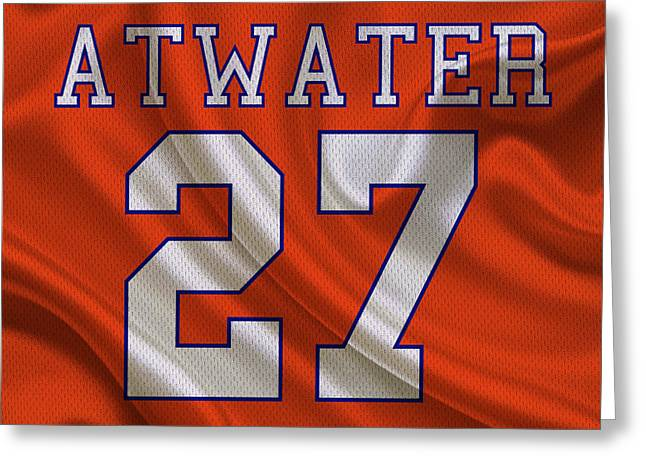 Atwater Greeting Cards - Denver Broncos Steve Atwater Greeting Card by Joe Hamilton