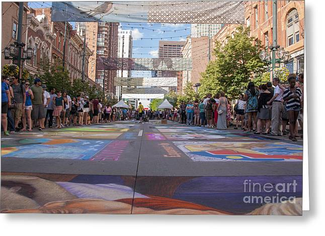 Denver Chalk Art Festival At Larimer Square 2014 Greeting Card by Juli Scalzi