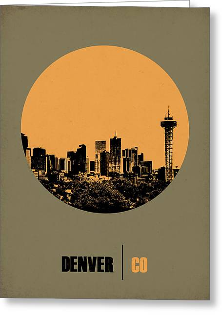 Colorado Greeting Cards - Denver Circle Poster 2 Greeting Card by Naxart Studio