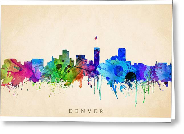 Steve Will Greeting Cards - Denver Cityscape Greeting Card by Steve Will