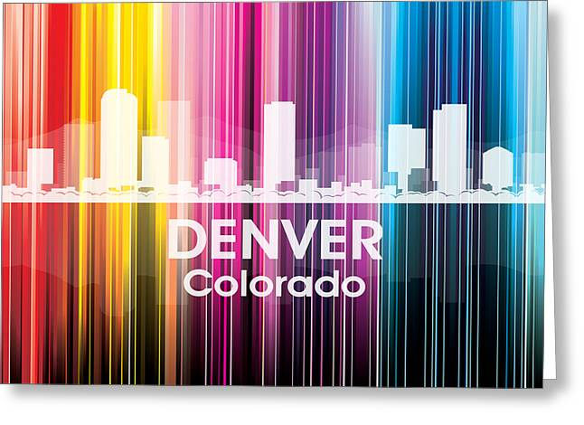 Concrete Jungle Mixed Media Greeting Cards - Denver CO 2 Greeting Card by Angelina Vick