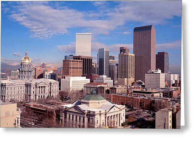 Capitol Greeting Cards - Denver, Colorado, Usa Greeting Card by Panoramic Images