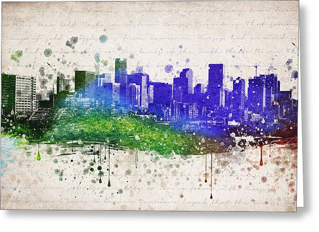 Denver Colorado Greeting Cards - Denver in Color Greeting Card by Aged Pixel