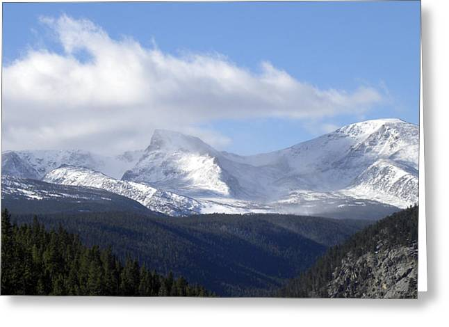 Denver Mountains Greeting Card by Julie Palencia