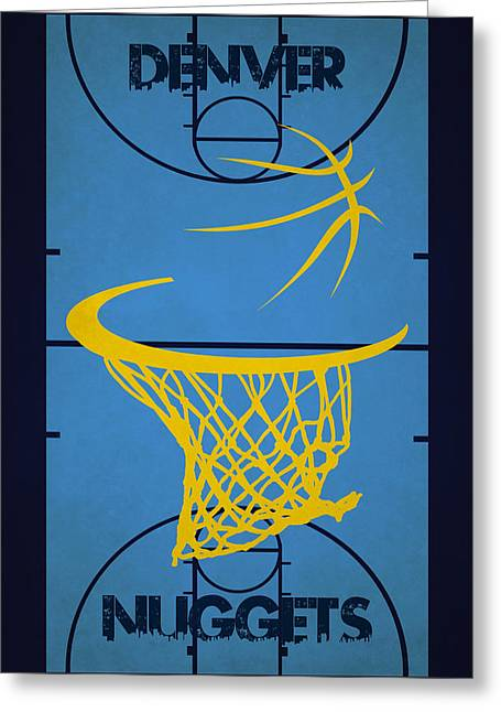 Denver Nuggets Greeting Cards - Denver Nuggets Court Greeting Card by Joe Hamilton
