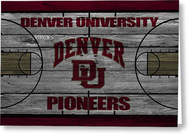 March Greeting Cards - Denver Pioneers Greeting Card by Joe Hamilton