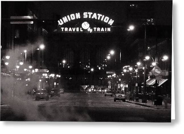 Denver Union Station Square Image Greeting Card by Ken Smith